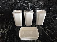 Набор аксессуаров для ванной комнаты, 4 пр. Белый, фото 1