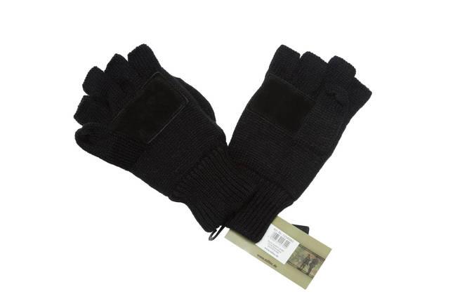 Перчатки беспалые с клапаном mil-tec Black, фото 2
