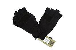 Перчатки беспалые с клапаном mil-tec Black
