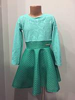 Платье для девочки с юбкой клеш 122-134 см, фото 1