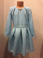Платье для девочки с пышной юбкой из неопрена 140-158 см, фото 1