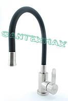 Смеситель для кухни из нержавеющей стали Zerix lr 74004-2 Черный
