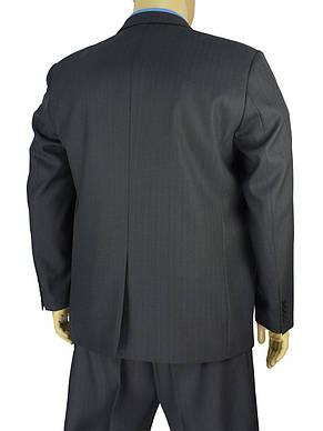 Темно-сірий чоловічий класичний костюм великого розміру Legenda Class 95 # 1, фото 3