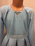Платье для девочки с пышной юбкой из неопрена 140-158 см, фото 3