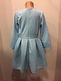 Платье для девочки с пышной юбкой из неопрена 140-158 см, фото 4