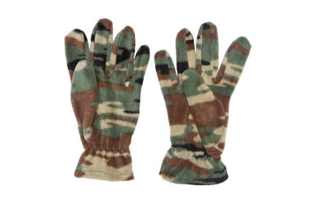 Перчатки зимние флисовые, reis rpolarex, камуфляж , фото 2