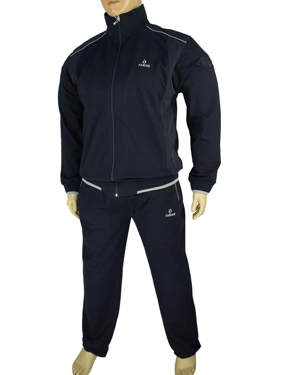 6d89b33e722943 Чоловічий спортивний костюм великого розміру Fabiani 13ВЕ3Е3751 В Blue  синього кольору