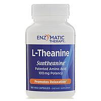 Enzymatic Therapy, L-теанин, 180 вегетарианских капсул, фото 1