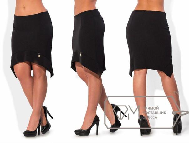 Ассиметричная женская юбка в больших размерах y-15uk439