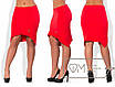 Ассиметричная женская юбка в больших размерах y-15uk439, фото 2