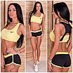 Женский модный костюм для фитнеса в расцветках f-5rt126, фото 3