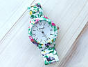 Часы Женева цветочный принт