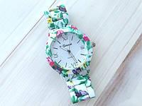 Часы Женева цветочный принт, фото 1