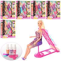 Кукла типа барби с длинными волосами для покраски волос и причесок, игровой набор парикмахер, 66449