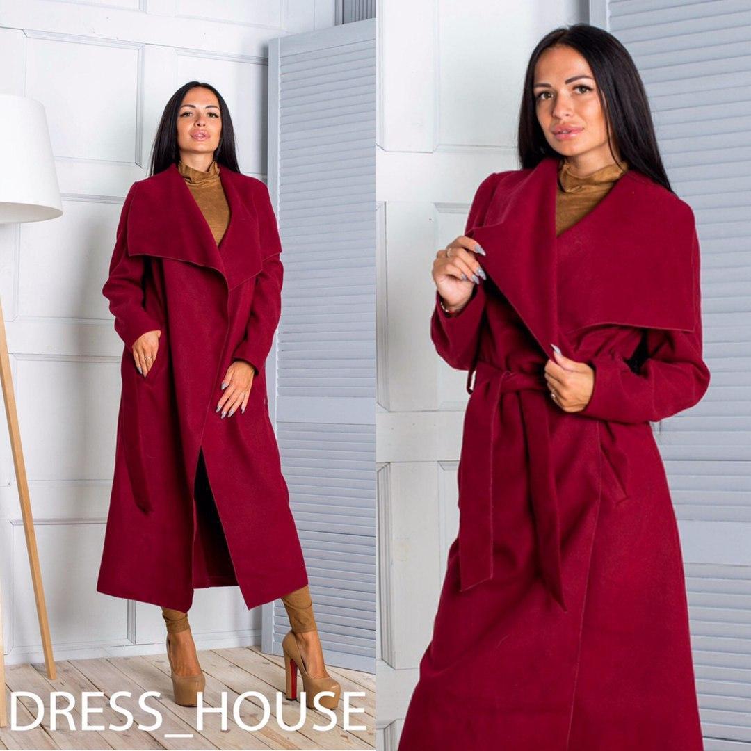 Женское удлиненное пальто-кардиган в разных расцветках o-5lt76