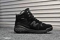 Мужские зимние кроссовки на меху New Balance Paradox Black Suede