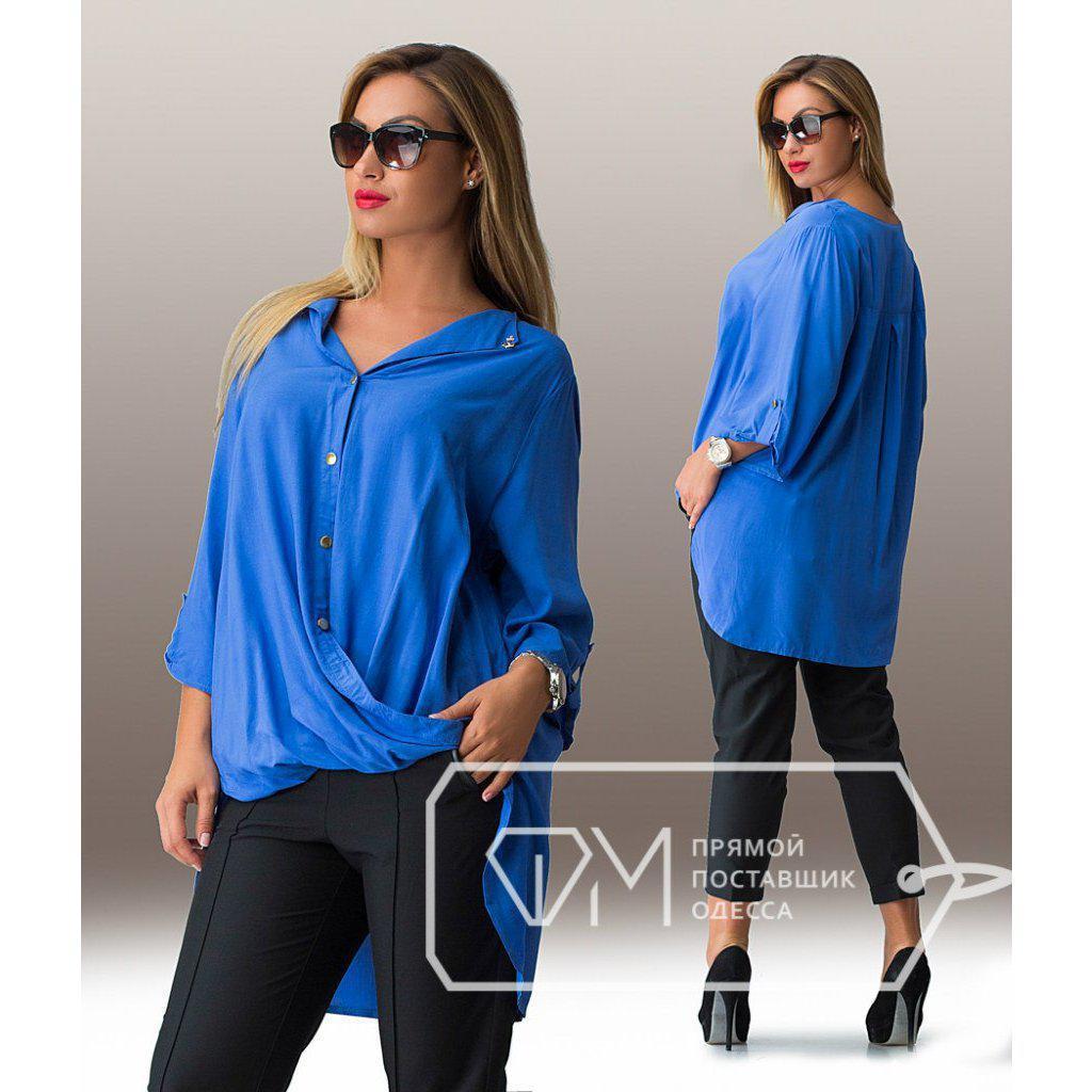 Легкая женская блуза в больших размерах r-15uk828