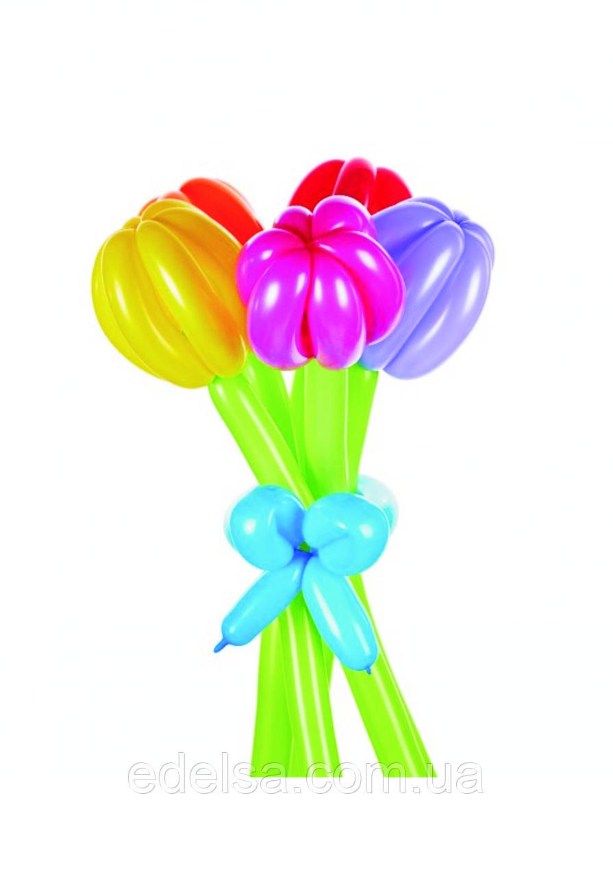 """Букет из воздушных шаров """"тюльпаны разноцветные"""" 5 шт"""