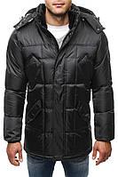 Парка мужская ADREX зимняя черная. Куртка удлиненная теплая.  Размеры S и ХL