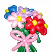 """Букет из воздушных шариков """"ромашки разноцветные"""" 7 шт"""