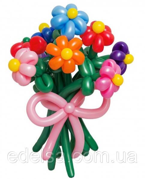 """Букет из воздушных шаров """"ромашки разноцветные"""" 9 шт"""