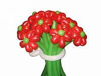 """Букет из воздушных шаров """"ромашки одноцветные"""" 9 шт"""