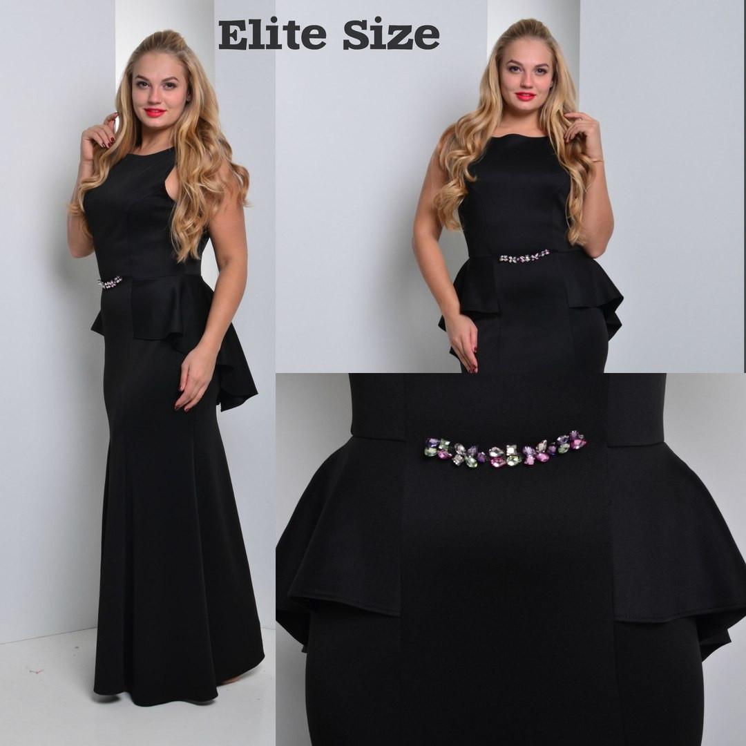 Платье в пол больших размеров в расцветках k-54uk951