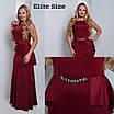 Платье в пол больших размеров в расцветках k-54uk951, фото 2