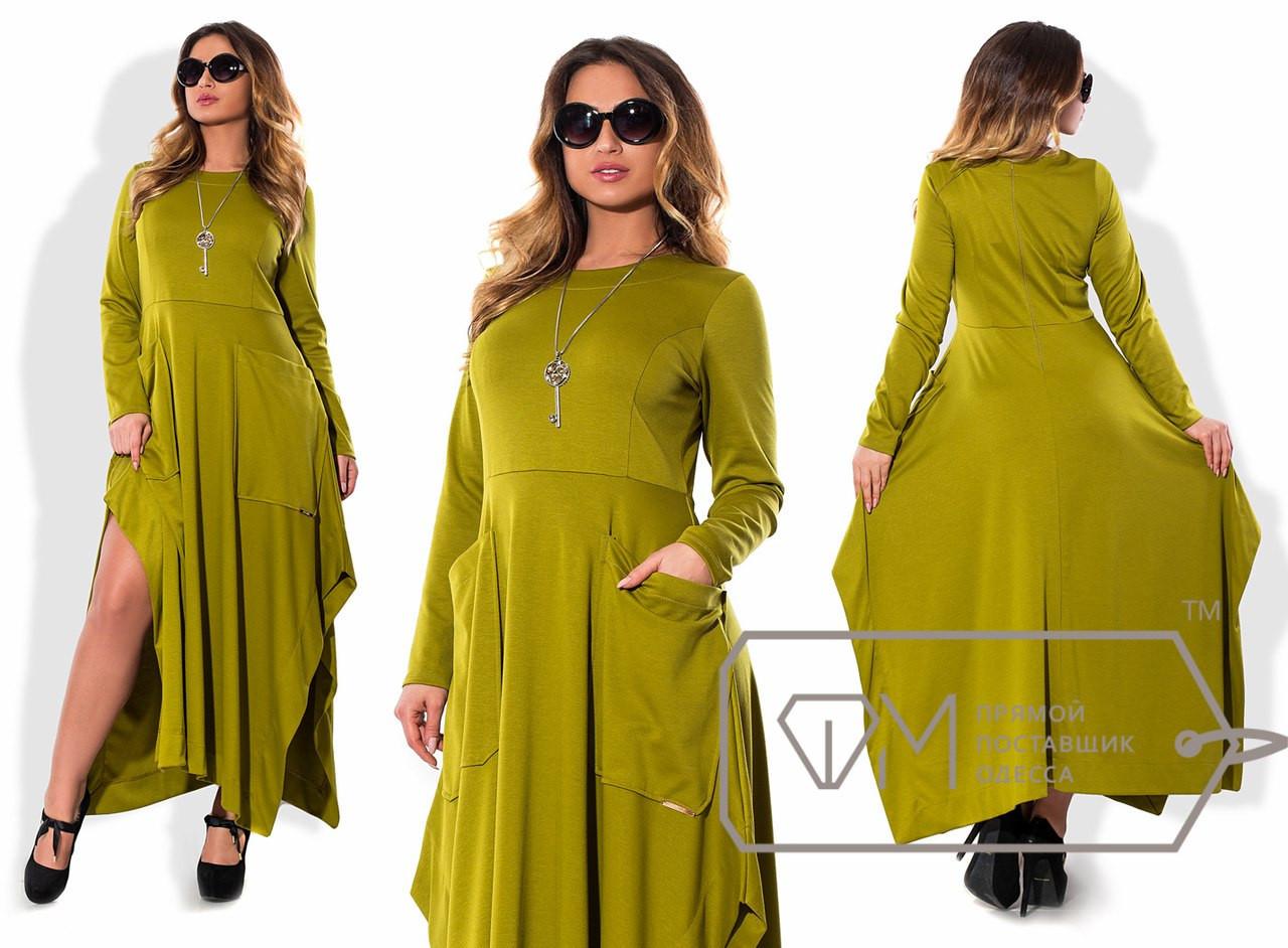Длинное женское платье Батал к-15uk970