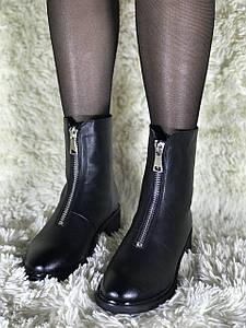 Зимние женские ботинки из натуральной кожи 35 размер