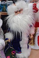Новорічний декор - іграшка Дід Мороз 40 см музична