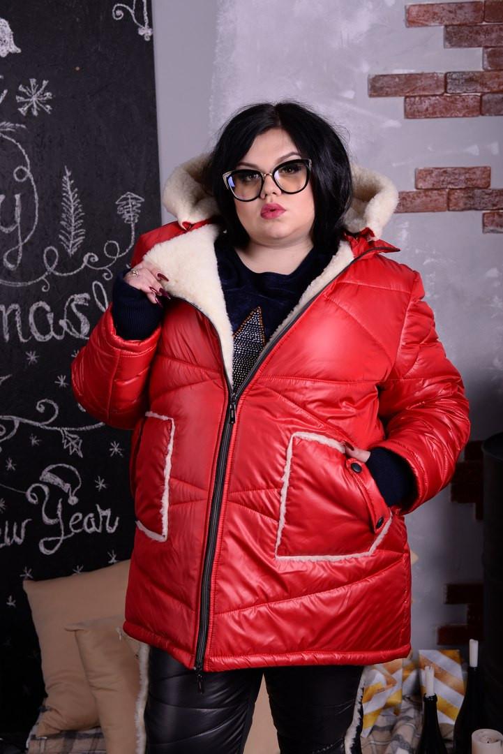 Зимняя женская куртка больших размеров л-10uk1057