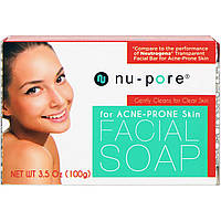 Мыло для лица, для кожи, склонной к акне, (100 г) Nu-Pore