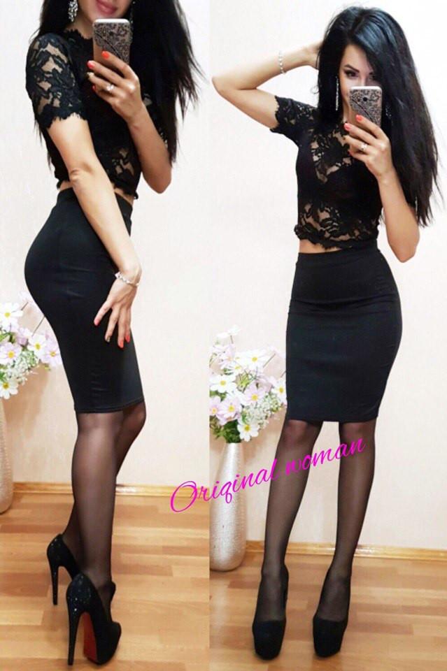 Женская юбка до колена (несколько расцветок) o-2wa172