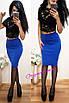 Женская юбка до колена (несколько расцветок) o-2wa172, фото 4