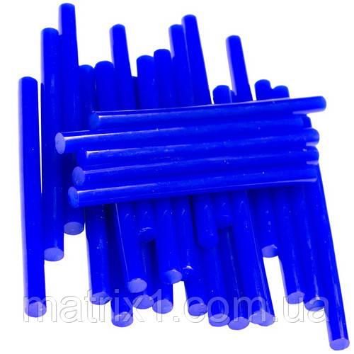 Термоклей тонкий, діам.-7мм, довжина 100мм, синій, FIT