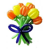 """Букет из воздушных шаров """"тюльпаны разноцветные"""" 9 шт"""