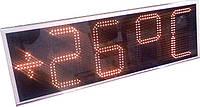 Часы термометр 900х300х50мм