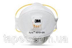 3М 9312 Респиратор с клапаном от токсичной пыли, класс FFP1, EN149