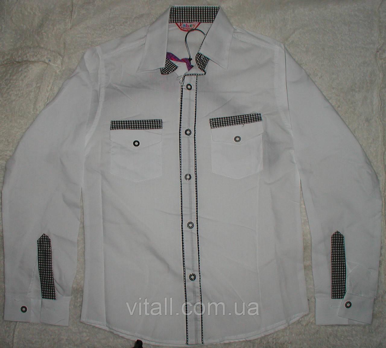 db6b66e20ac Рубашка белая со вставками от 10 до 13 лет - Интернет-магазин одежды Vitall  Production