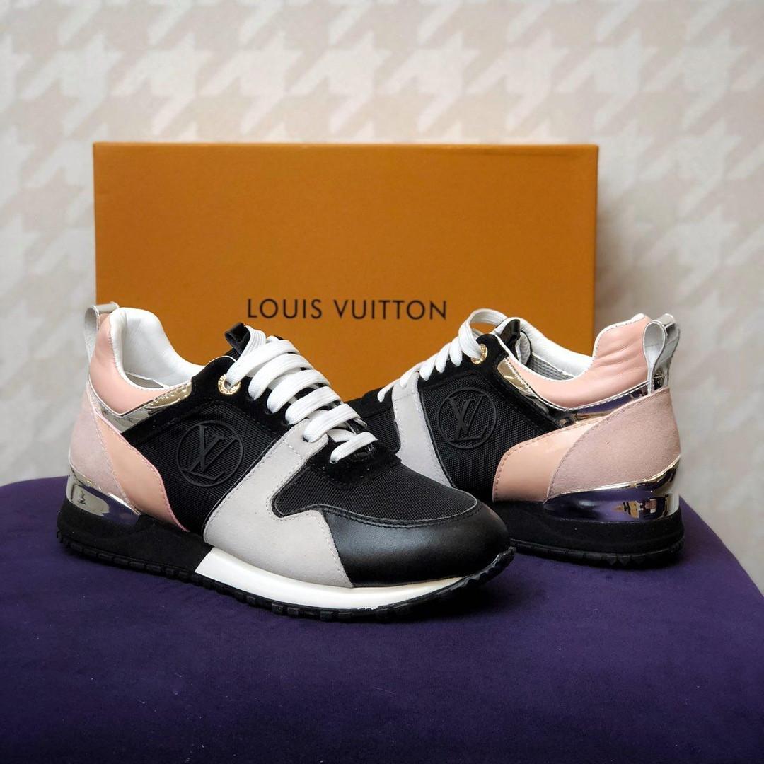 066eefa2c76b Louis Vuitton Run Away black / pink / grey | кроссовки женские;  розовые-черные