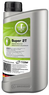 Полусинтетическое моторное масло для современных 2-х тактных бензиновых двигателей REKTOL 2T Super (1 L)