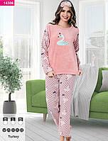 """Пижама женская теплая ткань софт """"Fancy"""",Турция"""