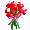 """Букет из воздушных шаров """"ромашки-сердечки большие"""" 5 шт"""