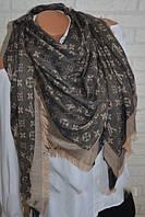 Женский платок Louis Vuitton Monogram (в стиле Луи Витон) коричневый e83e8bb1895
