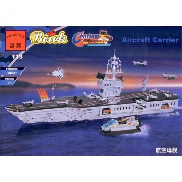 Конструктор Brick Авианосец 113, 990 деталей