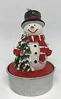 Свеча-фигурка новогодняя Снеговик