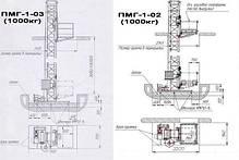 Высота подъёма Н-35 метров. Строительные мачтовые грузовые подъёмники ПМГ г/п 1000кг, 1 тонна., фото 2