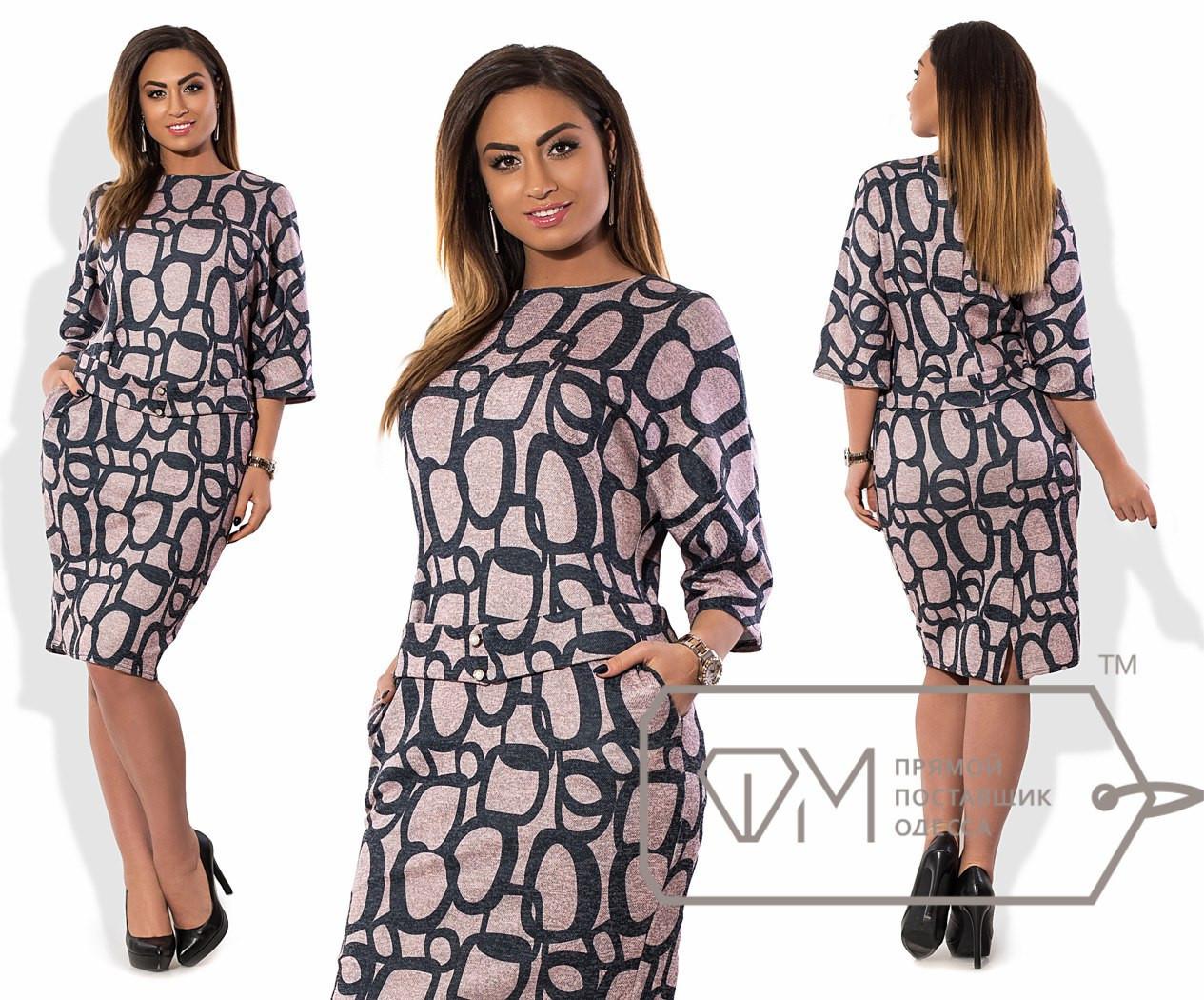 Стильное женское платье в больших размерах у-t15uk1253
