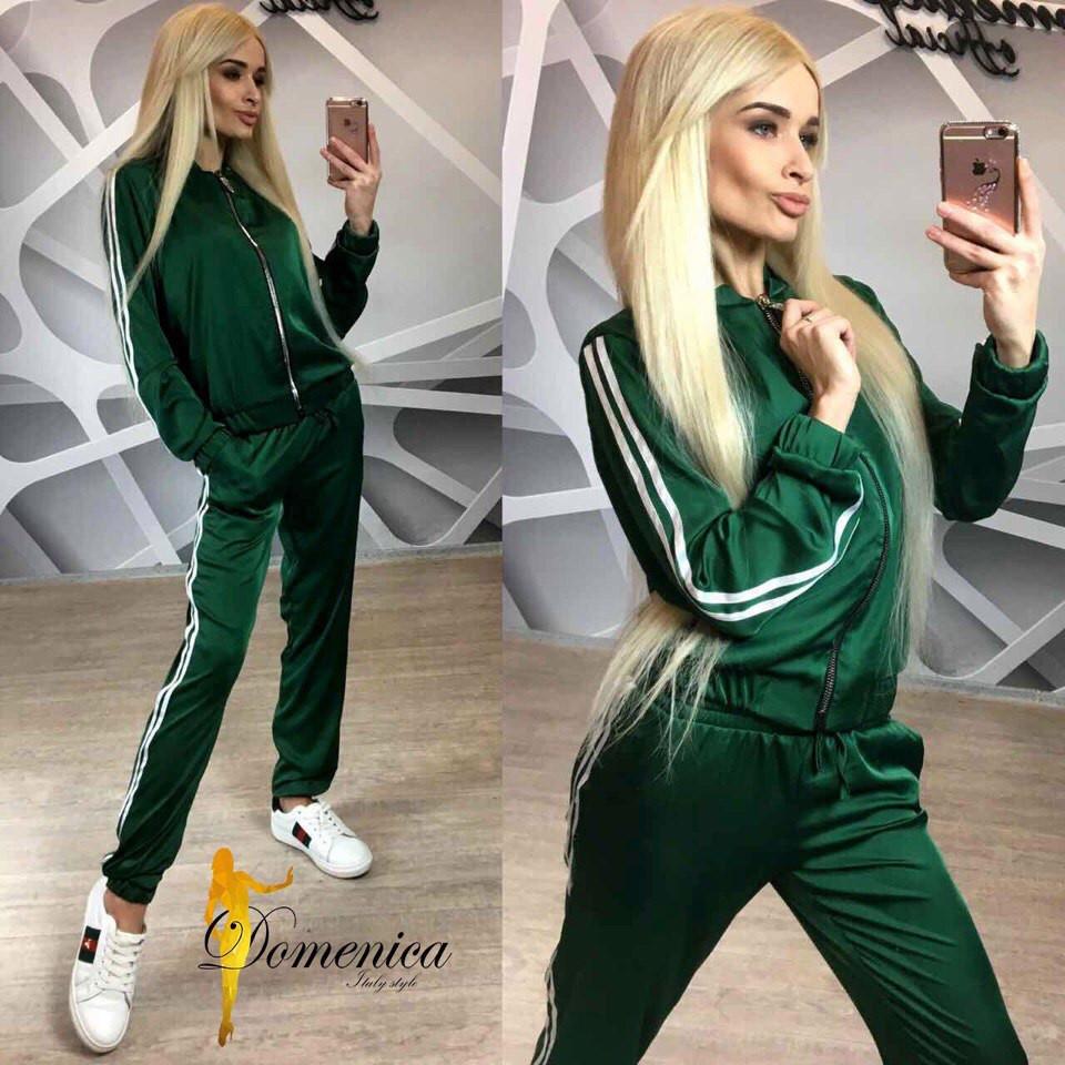 Женский шелковый спортивный костюм в расцветках i-t31rt392